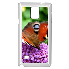 Peacock Butterfly Samsung Galaxy Note 4 Case (white)