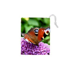 PEACOCK BUTTERFLY Drawstring Pouches (XS)