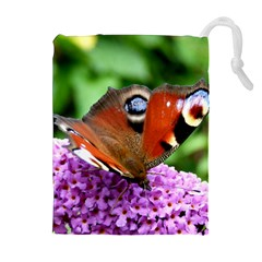 Peacock Butterfly Drawstring Pouches (extra Large)