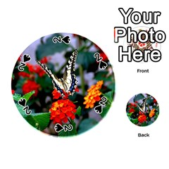Butterfly Flowers 1 Playing Cards 54 (round)