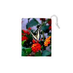 Butterfly Flowers 1 Drawstring Pouches (xs)