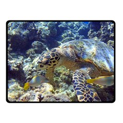 Sea Turtle Double Sided Fleece Blanket (small)