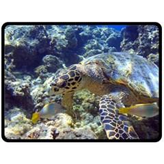 Sea Turtle Double Sided Fleece Blanket (large)