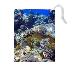 SEA TURTLE Drawstring Pouches (Extra Large)