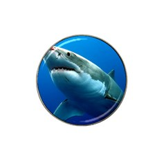 Great White Shark 3 Hat Clip Ball Marker