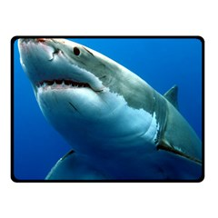 Great White Shark 3 Double Sided Fleece Blanket (small)