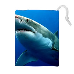 Great White Shark 3 Drawstring Pouches (extra Large)