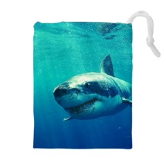 GREAT WHITE SHARK 1 Drawstring Pouches (Extra Large)