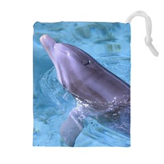 DOLPHIN 2 Drawstring Pouches (Extra Large)