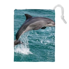 DOLPHIN Drawstring Pouches (Extra Large)