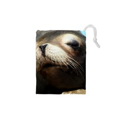CUTE SEA LION Drawstring Pouches (XS)