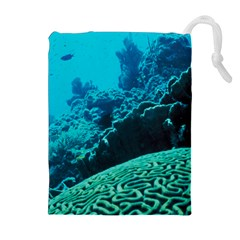 CORAL REEFS 2 Drawstring Pouches (Extra Large)