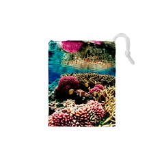 Coral Reefs 1 Drawstring Pouches (xs)
