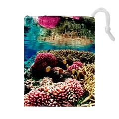 CORAL REEFS 1 Drawstring Pouches (Extra Large)