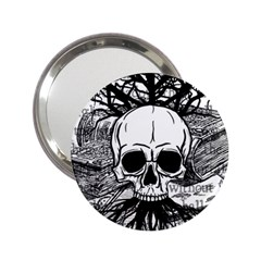 Skull & Books 2 25  Handbag Mirrors