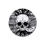 Skull & Books Rubber Round Coaster (4 pack)  Front