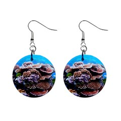 Coral Outcrop 2 Mini Button Earrings
