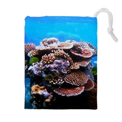 CORAL OUTCROP 2 Drawstring Pouches (Extra Large)