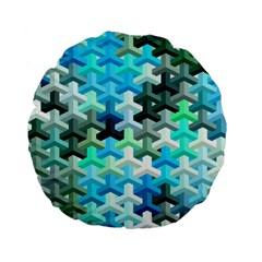 Mosaic & Co 02a Standard 15  Premium Flano Round Cushions