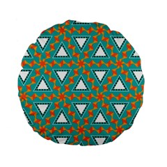 Triangles And Other Shapes Pattern 	standard 15  Premium Flano Round Cushion