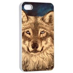 Wolf Apple iPhone 4/4s Seamless Case (White)
