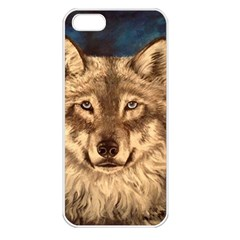 Wolf Apple iPhone 5 Seamless Case (White)