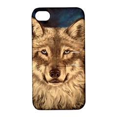 Wolf Apple Iphone 4/4s Hardshell Case With Stand