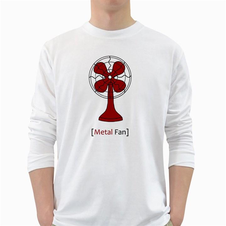Metal Fan White Long Sleeve T-Shirts
