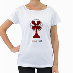 Metal Fan Women s Loose Fit T Shirt (white)