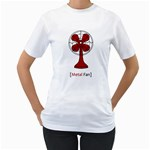 Metal Fan Women s T-Shirt (White)  Front