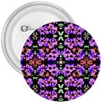 Purple Green Flowers With Green 3  Buttons Front