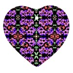 Purple Green Flowers With Green Ornament (Heart)  Front