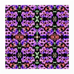 Purple Green Flowers With Green Medium Glasses Cloth (2 Side)