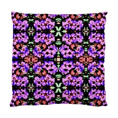 Purple Green Flowers With Green Standard Cushion Case (one Side)