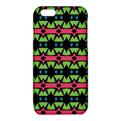 Shapes on a black background patterniPhone 6/6S TPU Case