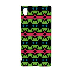 Shapes on a black background pattern			Sony Xperia Z3+ Hardshell Case