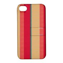 Stripes And Other Shapesapple Iphone 4/4s Hardshell Case With Stand