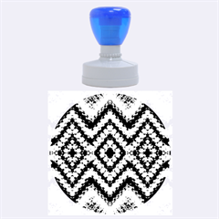 Colorful Diamond Crochet Rubber Round Stamps (large)