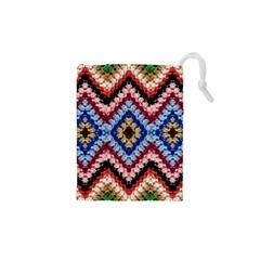 Colorful Diamond Crochet Drawstring Pouches (XS)