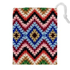 Colorful Diamond Crochet Drawstring Pouches (XXL)