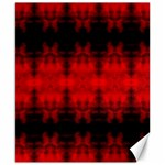 Red Black Gothic Pattern Canvas 8  x 10  10.02 x8 Canvas - 1