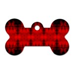 Red Black Gothic Pattern Dog Tag Bone (One Side) Front