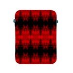 Red Black Gothic Pattern Apple iPad 2/3/4 Protective Soft Cases Front