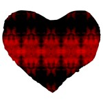 Red Black Gothic Pattern Large 19  Premium Flano Heart Shape Cushions Front