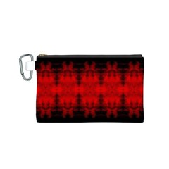 Red Black Gothic Pattern Canvas Cosmetic Bag (s)
