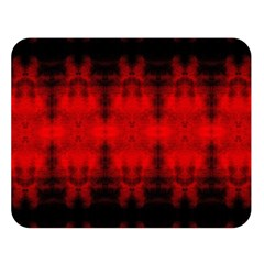 Red Black Gothic Pattern Double Sided Flano Blanket (large)