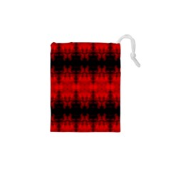 Red Black Gothic Pattern Drawstring Pouches (XS)