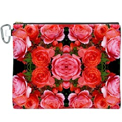 Beautiful Red Roses Canvas Cosmetic Bag (xxxl)