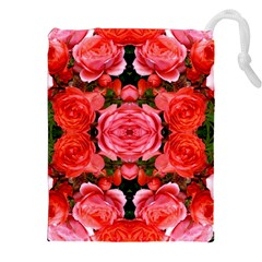 Beautiful Red Roses Drawstring Pouches (XXL)