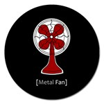 Metal Fan Magnet 5  (Round) Front